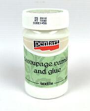 Pentart Decoupage varnish and glue for textile 100ml craft sealer