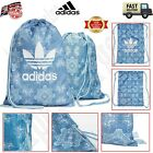 Adidas Shoe Sack Draw String Bag Shoulder Unisex PE Football Training Gym Men UK