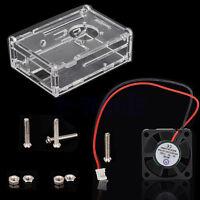Claro Acrílico Caja Con 5V 0.2A Ventilador Para Raspberry pi 2/3 Modelo B/B+ BC