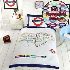 métro de Londres Tube Carte Simple Housse de couette et taie d'oreiller Set