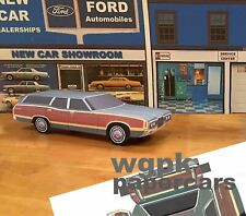 Papercraft 1971 Ford Country Squire station wagon 1pc U-make