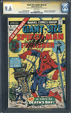 Giant-Size Spider-Man #4 NM+ 9.6 1975 Stan Lee Signature 3rd Punisher E6 H10 cm