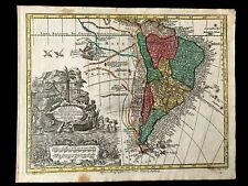 1744 MAP OF SOUTH AMERICA