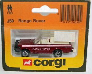 Corgi Juniors open top Range Rover very nice card