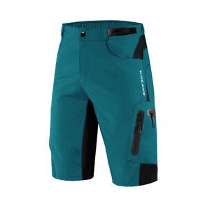 Men's Baggy Cycling Shorts MTB Mountain Bike Shorts Zipper Pockets Casual Pants
