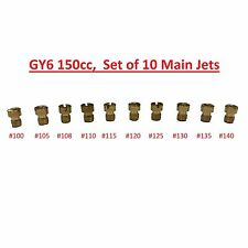 Set of 10 CVK Main Jets Chinese 125cc 150cc GY6 Carburetor Scooter Moped