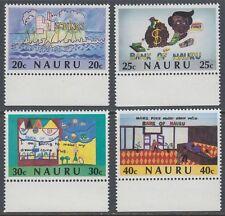 Nauru 1986 ** Mi.320/23 Bank Kinderzeichnungen Children's Paintings [sq7407]