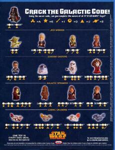 2005 STAR WARS SAGA BURGER KING KIDS MEAL TOYS - U PICK