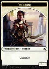MRM FRENCH 4x Token - Jeton Warrior  - Guerrier Vigilance 1/1 MTG magic AKH