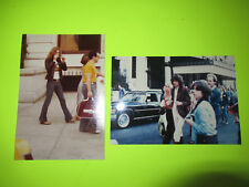 Vintage 2 X Led Zeppelin Robert Plant Jimmy Page Candid Photographs Photos