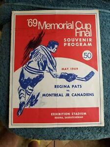 MAY 1969 REGINA PATS VS MONTREAL JUNIOR CANADIENS MEMORIAL CUP HOCKEY PERREAULT
