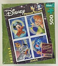 Disney Magic Jigsaw Puzzle Postage Stamp Buffalo Mickey Dumbo Peter Aladdin 500