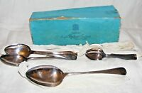 ANTIQUE VINTAGE JOSEPH RODGERS SILVER PLATED SPOONS, DESSERT, TEASPOONS,, SERVER