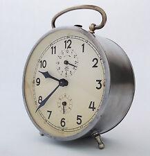 Vintage Junghans Alarm Clock Mechanical Wind Up Table Desk Mantle Shelf Antique