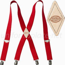 RED Dickies Men's Industrial Strength Ballistic Nylon Clip End Work Suspenders