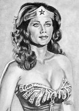 ORIGINAL ACEO sketch card WONDER WOMAN Lynda Carter