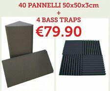 40 pannelli fonoassorbenti 50x50x3cm + 4 bass traps 25x50cm