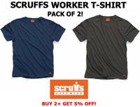 Scruffs Worker T-Shirt T Shirt Scruffs Work Top Navy Graphite Large 2 PACK - NEW