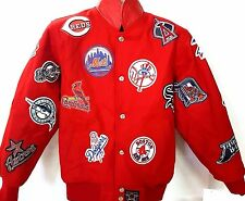 NEW! MLB Multilogos  Reversible Jacket Youth Jacket Size Youth L