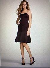 DAVID'S BRIDAL Elegant Sleeveless Party Prom Evening Satin Lined Dress: Black, 2