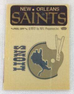 NFL 1972-74 Fleer Team Football Sticker-New Orleans Saints-Detroit Lions-V2