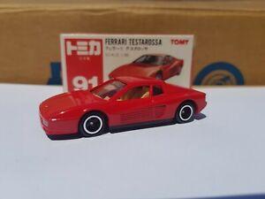 TOMICA 91 - FERRARI TESTAROSSA [RED] VTHF NEAR MINT MADE IN JAPAN