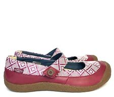 KEEN Harvest Womens Sz 10.5 US 41 EU Red Leather Aztec Mary Jane Comfort Shoes