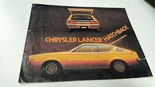1977 ? CHRYSLER LANCER HATCHBACK  Australian Sales Brochure