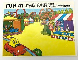 Vintage Fun at the Fair McDonalds Sticker 90s Grimace Birdie Hamburgler Elephant