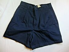 NEW Dockers Women's Solid Black Mini Shorts Size 8 P Petite 100% Cotton Summer