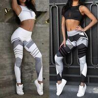 Women Yoga Leggings Fitness Sports Gym Exercise Running Joggings Pants Trousers