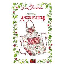 "THE PAISLEY PINCUSHION ""REVERSIBLE APRON"" Sewing Pattern"