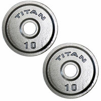 Titan Cast Iron Olympic Weight Plates | 10 LB Pair