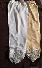 Pakistani / Indian Stylist Pencil Capri Trousers  Net Lace  Embroidery Beads