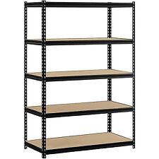 Heavy Duty Storage 5 Level Adjustable Shelves Garage Steel Metal Shelf 4'x2'x6'