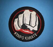 Rare Vintage Kenpo Karate Do MMA Martial Arts Uniform Gi Iron On Patch Crest 462