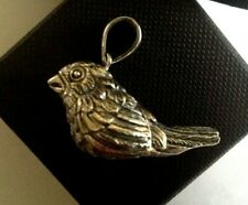 More details for fine sterling silver bird working whistle pendant field sports wildlife