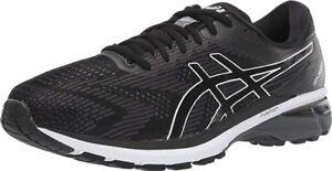 ASICS Men's GT-2000 8 Running Shoe, Black/White, 8 D(M) US