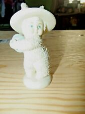 Dept. 56 Snow Babies Easter baby with blue Easter egg
