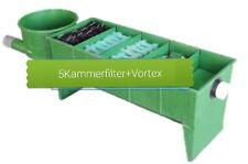 5 Kammerfilter mit Vortex Filtermaterial Reihenfilter bis 50.000 Liter Koi Teich