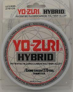 Yozuri 10HB 10Lb Camo Green Fluorocarbon Nylon Hybrid Fishing Line 275 Yd