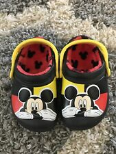 Crocs Kids Mickey Mouse Lined Clogs Sz C 6 7