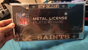 New Orleans Saints Chrome License Plate Frame NFL