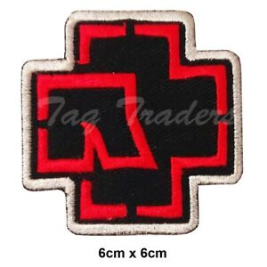RAMMSTEIN WHITE Embroidered Iron On Sew On Patch Heavy Rock Band