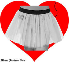 Plus Size Neon UV White tutu skirt Gothic Dance Fancy party Halloween Christmas