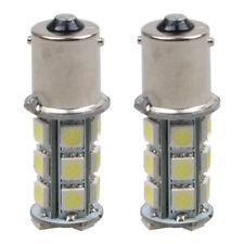 2 x 12V 1156 BA15S 5050 7503 1141 18SMD LED White Car RV Trailer Light Lamp Bulb