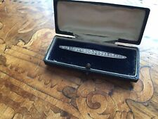 Antique Edwardian 1 Carat Natural Diamonds 18k Gold Brooch Boxed