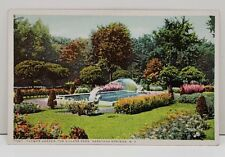 Sarasota Springs NY Flower Garden In The Village Park Postcard Phostint B1
