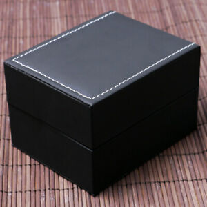 Luxury Black Leather Watches Case For Bracelet Jewelry Watches Holder Gift Box