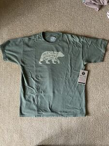 Boys Youth XL Parks Project Great Smoky Mountains Military Green T-shirt-NWT